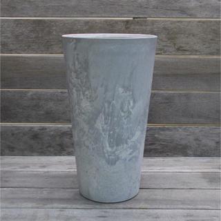 アクタス(ACTUS)のアートストーン モルタル風プランター 鉢フラワーベース ラウンド グリーンポット(プランター)