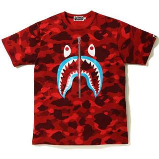 アベイシングエイプ(A BATHING APE)のBAPE COLOR CAMO SHARK TSHIRT (Tシャツ/カットソー(半袖/袖なし))