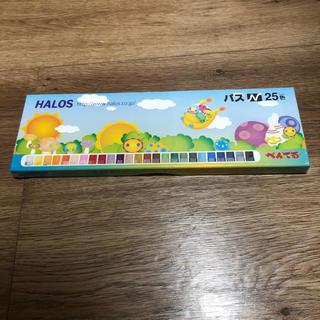 ペンテル(ぺんてる)の新品 未開封 ぺんてる クレパス 25色 HALOS 値下げ(クレヨン/パステル)
