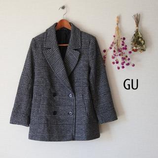 GU - Sサイズ GUグレンチェックコート 秋冬用 レディース