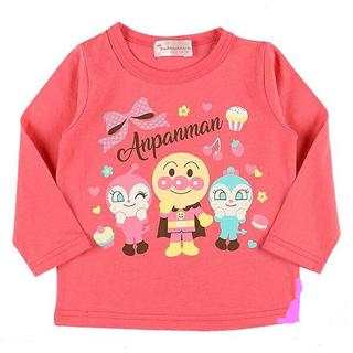 アンパンマン - アンパンマン 90cm 3キャラ長袖Tシャツ ピンク