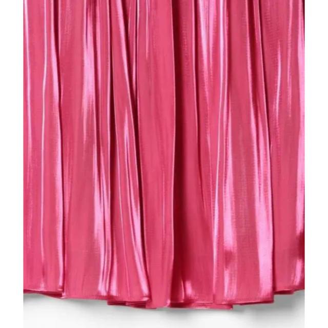 GRACE CONTINENTAL(グレースコンチネンタル)のサテンギャザースカート¥20,520 レディースのスカート(ロングスカート)の商品写真