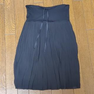 ルーニィ(LOUNIE)のLOUNIE 黒 プリーツスカート(ひざ丈スカート)