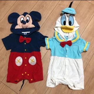Disney - ミッキー  ドナルド ロンパース