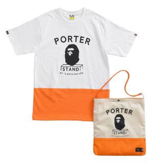 アベイシングエイプ(A BATHING APE)のBAPE × PORTER TEE & SHOULDER TOTE BAG(Tシャツ/カットソー(半袖/袖なし))