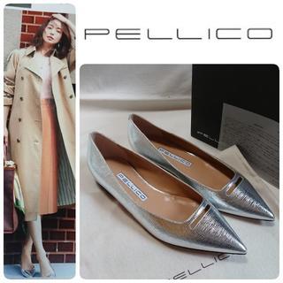 PELLICO - 新品 ペリーコ [新木型] ANIMA  アネッリ フラット 人気のシルバー