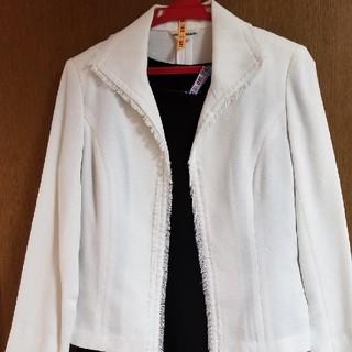 レディースジャケット♡ホワイトジャケット♡セレモニースーツフォーマル(テーラードジャケット)