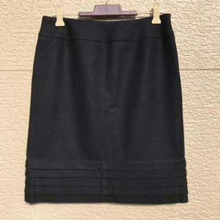 エムプルミエ(M-premier)のM-PREMIER エムプルミエ スカート カシミヤ混 黒 ブラック 38(ひざ丈スカート)