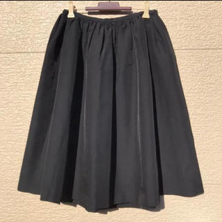 Whim Gazette ウィムガゼット スカート 黒 ブラック 36(ひざ丈スカート)
