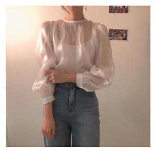 Ameri VINTAGE - 𓂃 韓国 ♡ sheer blouse 𓂃
