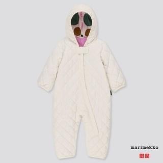 マリメッコ(marimekko)の海外限定 marimekko×ユニクロ カバーオール白80 マリメッコ 新品(カバーオール)
