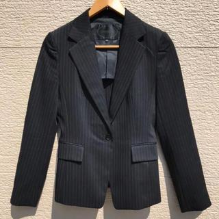 アンタイトル(UNTITLED)のUNTITLED アンタイトル ジャケット ストライプ 黒 ブラック 2(テーラードジャケット)