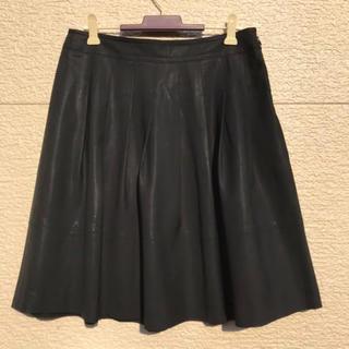 セオリー(theory)のtheory セオリー スカート 黒 ブラック 0(ひざ丈スカート)