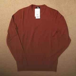 ユニクロ(UNIQLO)のタグ付 ユニクロ ニット セーター オレンジ 試着のみ(ニット/セーター)