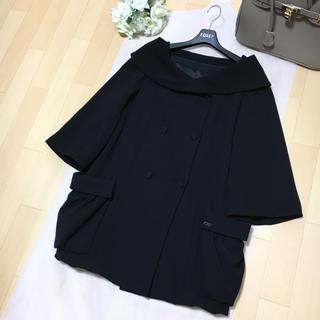 FOXEY - 【美品】FOXEY フォクシー 美しい女優襟 中綿 ブラック コート 40
