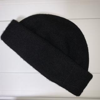 コモリ(COMOLI)のkopka コプカ beanie ビーニー knit cap ニット帽 ブラック(ニット帽/ビーニー)
