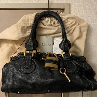 クロエ(Chloe)の美品 新宿伊勢丹Chloe 約21万 ブラック大型パディントン(ハンドバッグ)