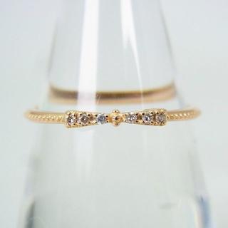 K10ピンクゴールド ダイヤモンド リボン リング 10号[g162-18](リング(指輪))