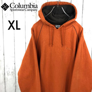 Columbia - 【希少】【コロンビア】刺繍ロゴ☆パーカー☆XL☆オレンジ系☆ゆるだぼ
