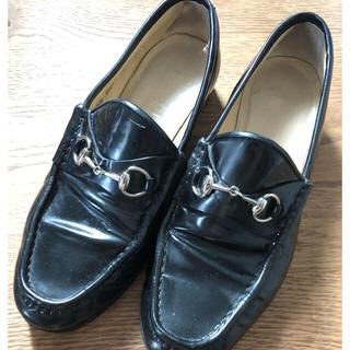 グッチ(Gucci)のGUCCI   グッチのビットローファ 24.0センチブラック(ローファー/革靴)