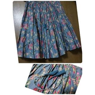リーブル(Libre)の【Sale】美品!Libre  大人花柄スカート(ひざ丈スカート)
