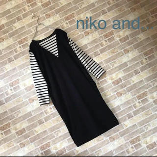 niko and... - niko and... 重ね着風ワンピース【美品】