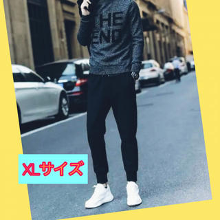 【SALE】ユニセックス ジョガーパンツ 黒 スウェット XLサイズ(その他)