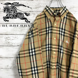 BURBERRY - 希少 バーバリー Burberrys シャツ 刺繍 シャドーホース ノバチェック