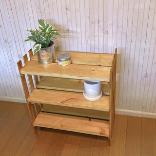DIY ウッドラック 本棚 ウッドシェルフ くつ箱 シューズラック