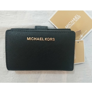 Michael Kors - 定番 1番人気  ブラック❗マイケル・コース二つ折り財布