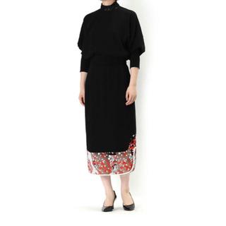 マメ(mame)の【新品】Mame Pedicel Lace skirt Black(ひざ丈スカート)