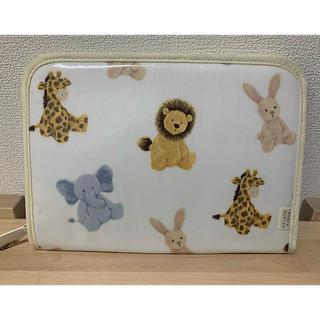ジェラートピケ アニマル ライオン 母子手帳ケース