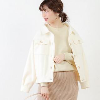 natural couture - ナチュラルクチュール 春色ミドル丈しっかりめブルゾン