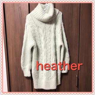 heather - heather ヘザー   ニット ライトグリーン フリーサイズ