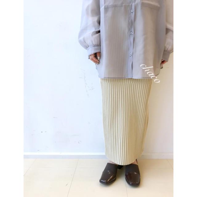 mystic(ミスティック)の春新作🍋¥6490【mystic】ランダムリブニットスカート レディースのスカート(ロングスカート)の商品写真