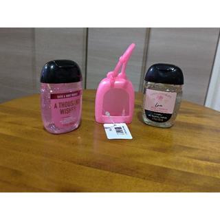 バスアンドボディーワークス(Bath & Body Works)のrena様専用 バス&ボディワークス サニタライザー6個 とケース【ピンク】(その他)