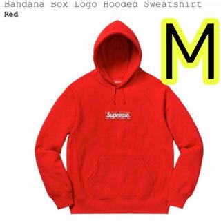 Supreme - Supreme ボックスロゴパーカー 赤 Mサイズ