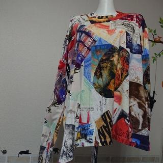 ヴィヴィアンウエストウッド(Vivienne Westwood)のヴィヴィアン ウエストウッド マン オーブ 総柄 カットソー ロンT(Tシャツ/カットソー(七分/長袖))