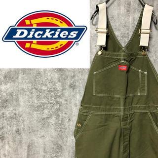 Dickies - 【デッドストック】ディッキーズ☆後染め加工USA製ロゴタグ入りオーバーオール