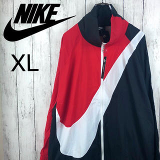NIKE - 【新品未使用】【ナイキ】ビッグスウォッシュ☆ナイロンジャケット☆XL☆黒X赤X白