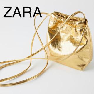 ZARA - ZARA ゴールド バケット ショルダーバッグ