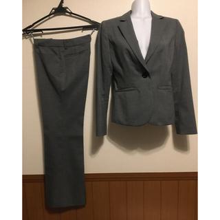 アオヤマ(青山)のレディーススーツ グレー ストライプ(スーツ)