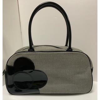 マリークワント(MARY QUANT)のマリークワント ボストンバッグ 珍しい千鳥格子 通勤通学バッグ、通いバッグに美品(ボストンバッグ)