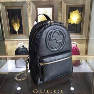 Gucci - 新品 グッチ SOHO バックパック リュック チェーン 黒