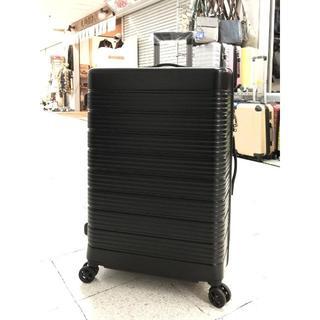 中型軽量スーツケース8輪キャスター TSAロック付き Mキャリーケース 黑