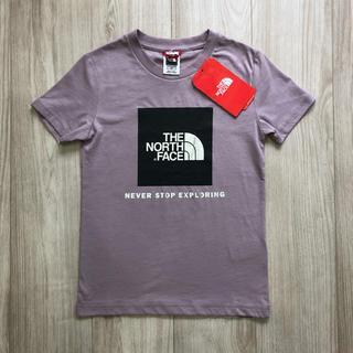 ザノースフェイス(THE NORTH FACE)の【海外限定】TNF ノースフェイス ボックスロゴ Tシャツ パープル M~L(Tシャツ(半袖/袖なし))