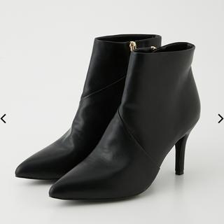 rienda - rienda 新品 F leather slanting booties
