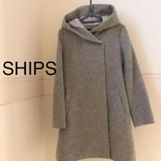 SHIPS - SHIPS フード付きシャギーコート