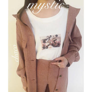mystic - 春OK🌷¥10450【mystic】サファリワンピース コートワンピース