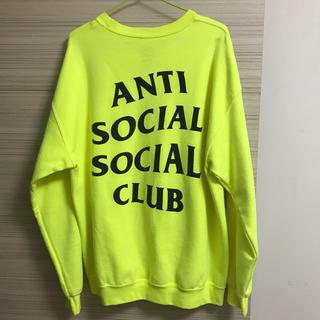 アンチ(ANTI)の美品送料込み アンチソーシャルソーシャルクラブ 蛍光イエローL(スウェット)